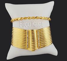 Altin Bilezik ikili Trabzon Bileklik Kelepce Pulseras De Oro 24 quilates dorado