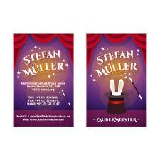 Visitenkarten individuell Business Karten 300g/qm 85 x 55 mm - Zauberer Magier