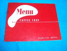 Vtg 50's ? Japaneese Collectible NIKKATSU HOTEL Restaurant Coffee Shop Menu Red
