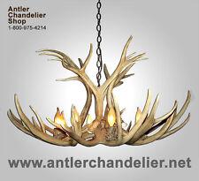 REAL ANTLER MULE DEER CHANDELIER, 6-8 LIGHTS, MDST-2, RUSTIC LAMPS, ACS