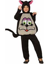 Wiggle Eyes Black Cat Unisex Child Silly Halloween Animal Costume