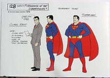 SUPER FRIENDS SUPERMAN MODEL SHEET DC ALEX TOTH