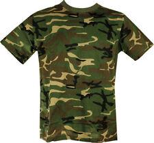 NEW MENS UNISEX MILITARY CAMOUFLAGE CAMO T SHIRT ARMY COMBAT SAS WOODLAND S-XXL
