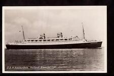1950 real photo ss n. amsterdam ship holland-amerika line postcard