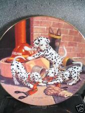 Dalmatian Dog WHERE'S THE FIRE Jim Lamb Firehouse Ltd Ed Plate 1993