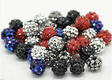 Shamballa Pearl Beads Glitzerperle 12mm Glitter Threadhole 1,7mm for Leather