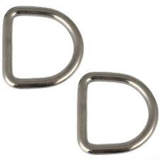 1 Stk D-Ring D= 3 - 8mm L= 15 - 50 mm Halbrung Edelstahl A4 Ringe Metalringe Öse