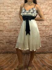 Abendkleid kurz Coctailkleid Plisseekleid Minikleid Kleid Spaghettiträger neu