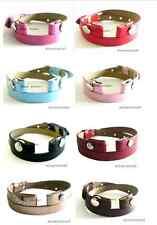 Multi-color Floating Locket Bracelet PU Leather Wrist Bands for Floating charms