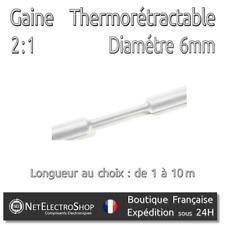 Gaine Thermorétractable 2:1 - Diam. 6 mm - Blanc - 1 à 10m #147