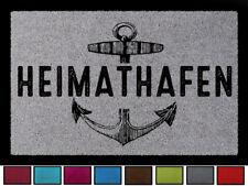 TÜRMATTE Fußmatte HEIMATHAFEN Maritim Eingang Einzug Flur Badezimmer Türvorleger