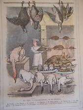GRAVURE COULEUR DE DEMARLE 1887 LA VOLAILLE