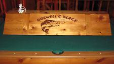 New Custom Bass Fishing Billiard Poker Pool Table Light with Your Name !