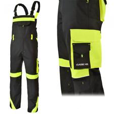 Bib and Brace Overalls Mens Work Trousers  Pants Knee Pad Multi Pocket HI VIs