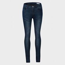 Ladies Womens Denim Skinny Jeans Slim Skinny Fitted Faded Stretch Pants Trouser