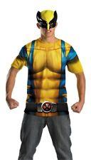 MARVEL COMIC BOOK VERS SUPER HERO WOLVERINE NO SCARS SHIRT MASK COSTUME DG21286