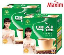 Korean Instant Maxim Decaf Coffee Mix Collection 20/50/100 Sticks