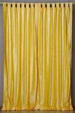 Yellow Tab Top  Velvet Curtain / Drape / Panel  - Piece