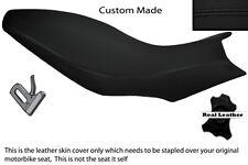 BLACK STITCH CUSTOM FITS APRILIA DORSODURO 750 1200 DUAL LEATHER SEAT COVER