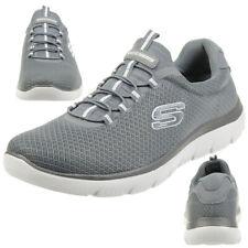 Skechers SUMMITS Herren Fitnessschuhe Sneaker Memory Foam grau
