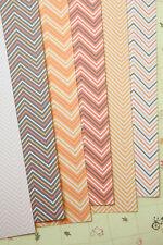 Autumn Chevron Card Stock 250gsm printed zigzag cardstock wedding craft postcard