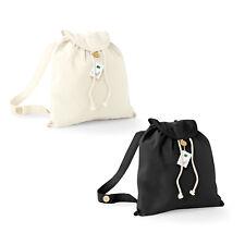Westford Mill Organic Festival Backpack (W185)-Cotton Rucksack Retro Travel Bag