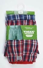 Mens Boxer Shorts woven pack of 2 plaid Duke D555