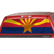 ARIZONA FLAG Rear Window Graphic See through Tint Decal Print Sticker Truck SUV
