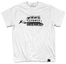 FlyBoyz® Men's Ski Skiing Snowboard Cotton White T-Shirt Plow Tee