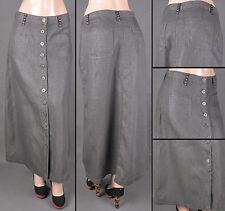 NWT Women Size S-3XL A-line Long Skirt  LUREX SILVER GRAY COLOR, SG-85964