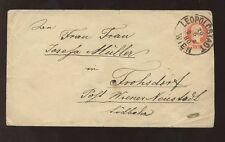 Autriche 1880 papeterie enveloppe 5kR... leopoldstadt clair annuler + iglauer sceau