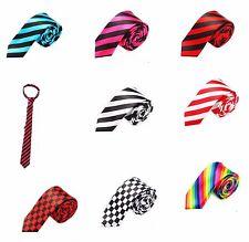Soyeux Cravate homme Cravate slim Dans Divers Imprimé Carreaux-Stripes Ties