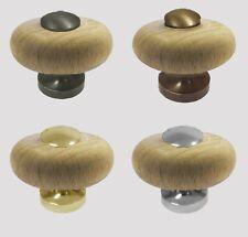 VERNICE proprio legno CIAMBELLA Armadio/Guardaroba/Armadio Door Pull manopole di fissaggio in metallo/