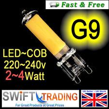 G9 LED Light Bulbs Clear Glass Capsule 240v 2W - 4W   Long Life Bulb COB