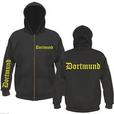 DORTMUND Kapuzenjacke / Sweatjacke - FÄN - schwarz/gelb M bis XXL - jacke hoodie