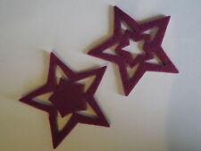 24 x Filz Sterne verschiedene Farben von Halbach Streudeko