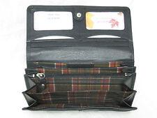 Genuine Cowhide Leather Ladies RFID Wallet- Red, Black, Tan & Brown #7502-R  CAN