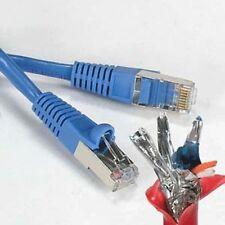 Blue 35Ft-150FT Cat6 Giga Lan Network Ethernet CMX Outdoor SSTP Shielded Cable