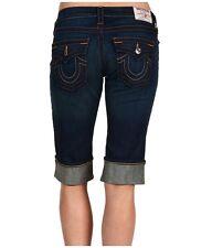 NEW $189 True Religion 24 x 14 Long Shorts Lowrise Cuffed Hem Jeans Denims Pants