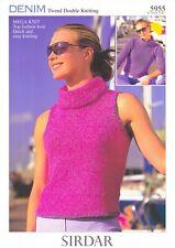 Sirdar Knitting Pattern Denim Tweed DK 5955