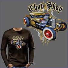 HOTROD Kustom RACE Chop SPEED Garaje motivo coche manga larga camiseta t-shirt