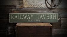 Custom Tavern / Pub Est Date Sign -Rustic Hand Made Distressed Wooden ENS1000734