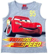 NEU!! Disney Cars Lightning MCQUEEN Tanktop T-Shirt Shirt Pulli grau 80 86 92