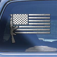 USA Flag AK-47 Rifle Decal Sticker - ak47 rifle firearm window decal sticker