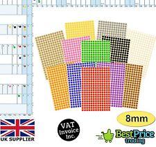 Calendrier planificateur mur année vacances Multicolore 8mm Dot Stickers * diary