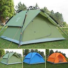 Tenda a cupola da campeggio 3-4 persona Automatico Doppio Strato Viaggi Escursionismo Rifugio baldacchino