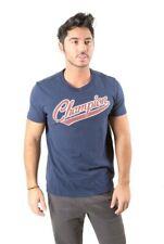 CHAMPION T-shirt Varsity Blue Man Fitness