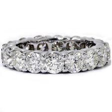 Unique Huge 5.00Ct Round Diamond Eternity Ring Wedding Band 14k White Gold