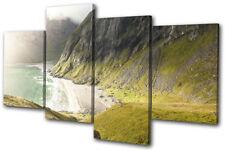 Mountains Ocean Mist Landscapes MULTI TELA parete arte foto stampa