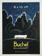 REPRODUCTION AFFICHE BUCHET BILLANCOURT 6 & 10 HP PAPIER SATINE 190 GRS